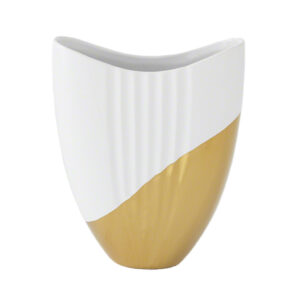 METALLIC DIPPED OVAL VASE GOLD
