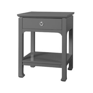 MING CHINOISERIE SIDE TABLE GRAY