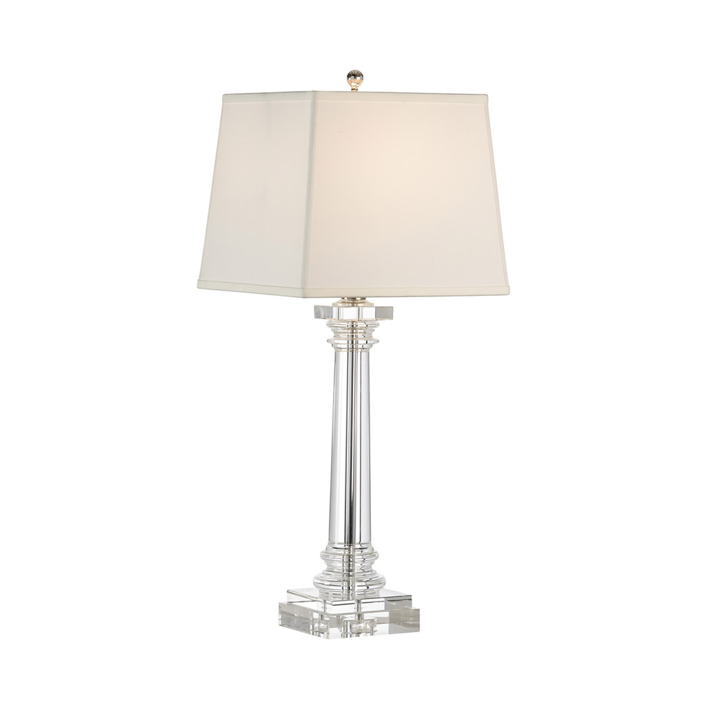 ROUND CRYSTAL COLUMN TABLE LAMP
