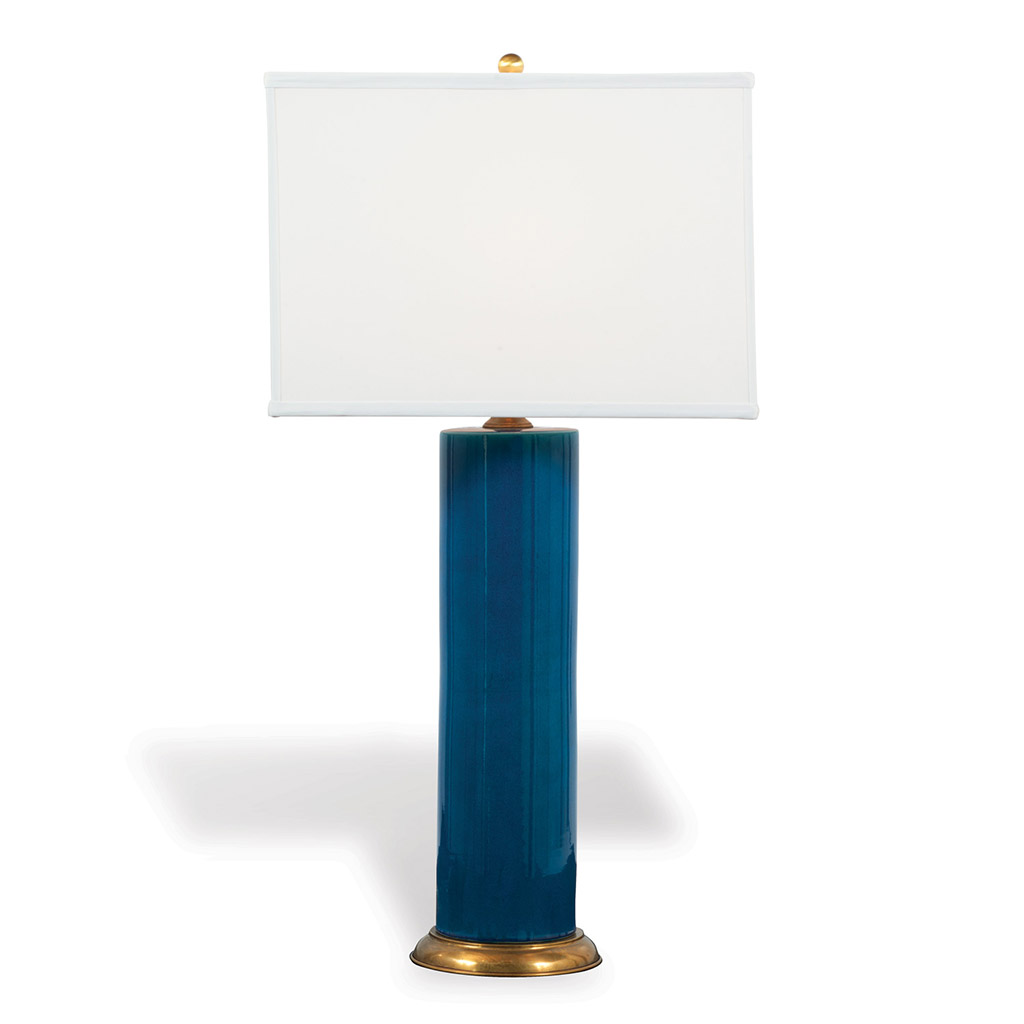 CYLINDER TABLE LAMP BLUE