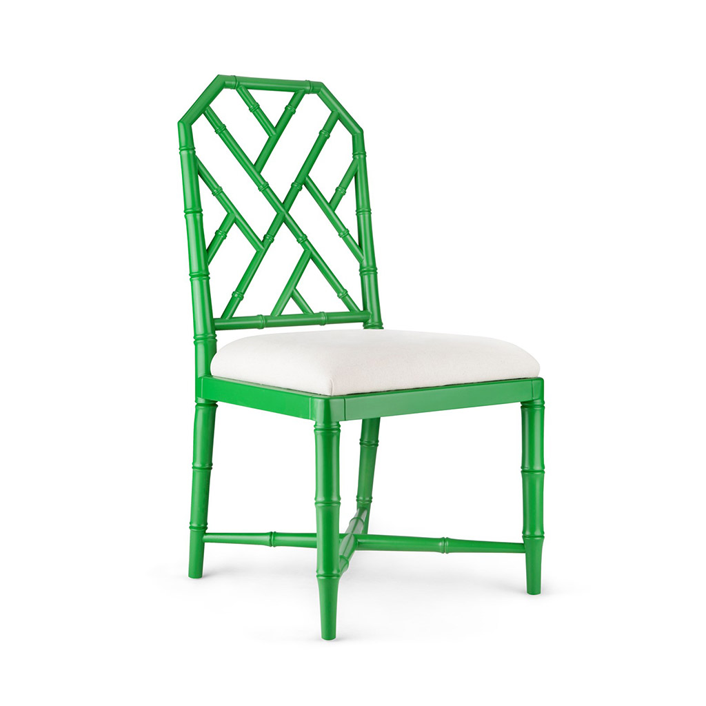 JARDIN SIDE CHAIR EMERALD GREEN