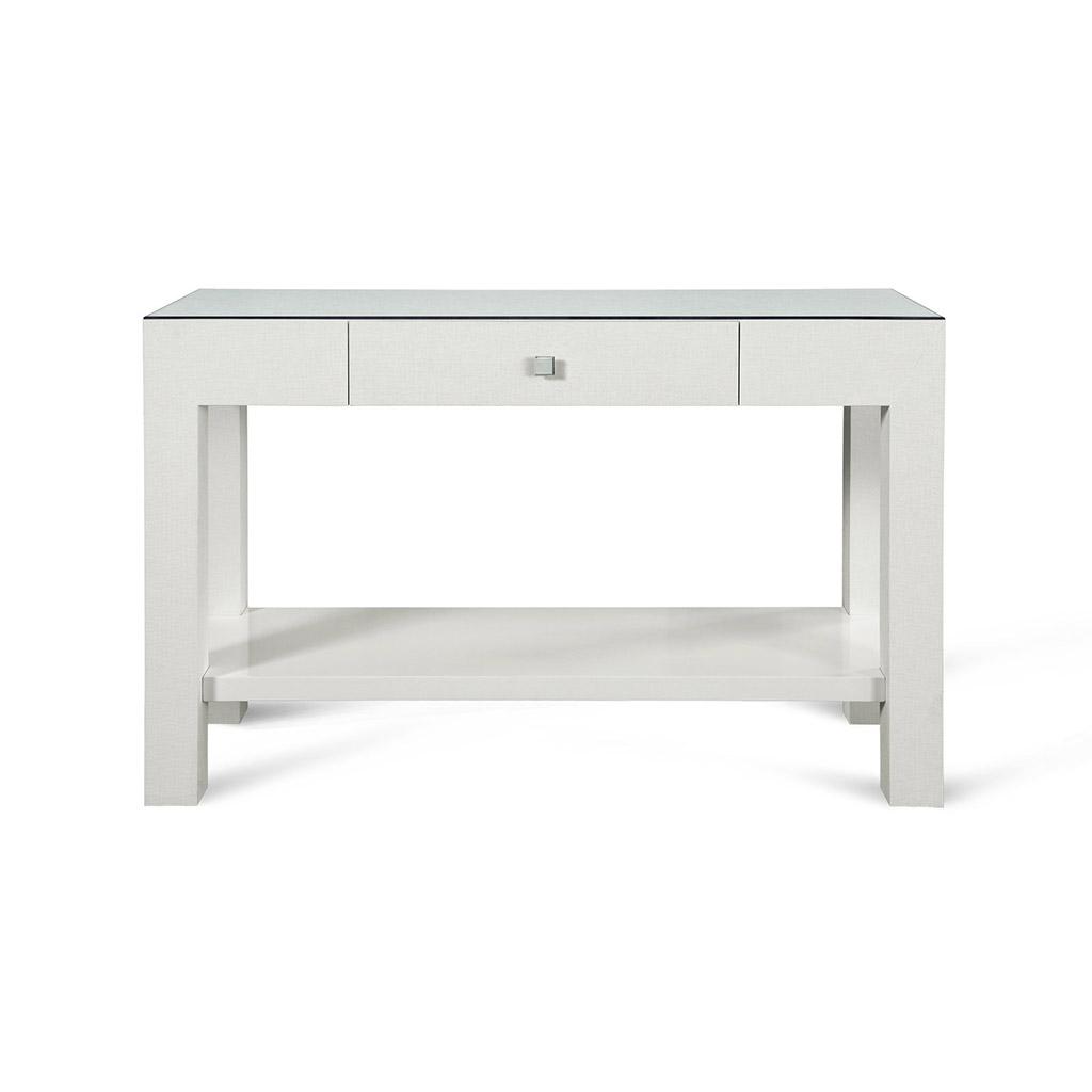 GRASSCLOTH CONSOLE TABLE