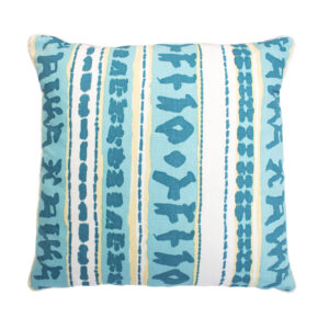 QUADRILLE CHINA SEAS PILLOW - AQUA & YELLOW