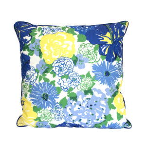 Floral lilly blue yellow
