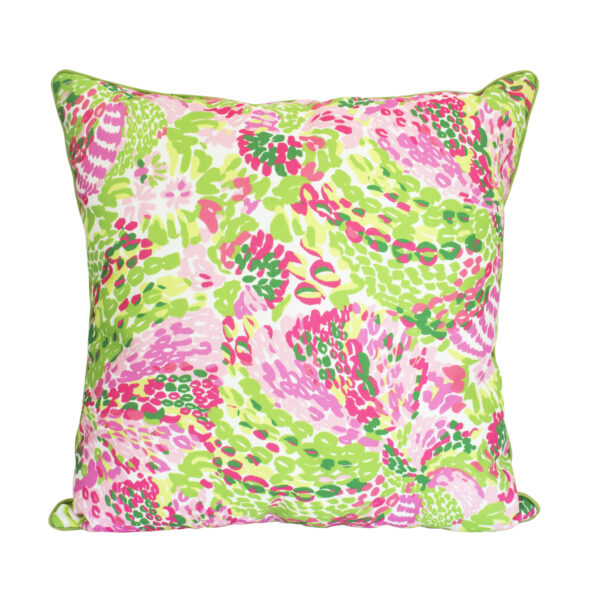 Floral lilly greens pink