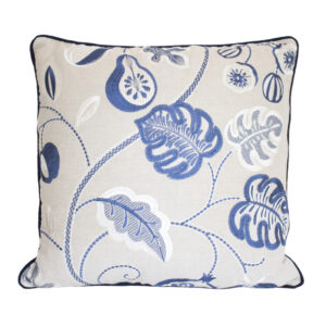 JANE CHURCHILL FLORAL EMBROIDERY PILLOW