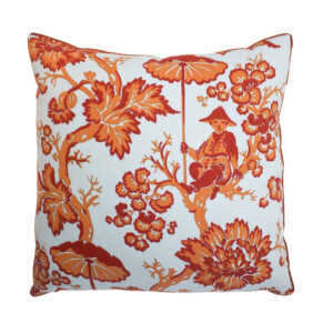 BAILEY & GRIFFIN PARADISE TOILE PILLOW