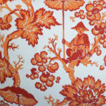 BAILEY & GRIFFIN PARADISE TOILE PILLOW DETAIL