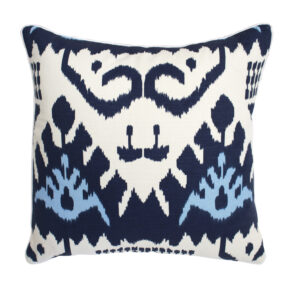 QUADRILLE CHINA SEAS IKAT PILLOW - BLUE