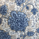 EMBROIDERED FLORAL BLUE PILLOW DETAIL