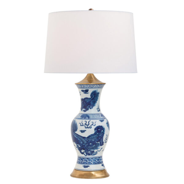 CHOW TABLE LAMP   BLUE