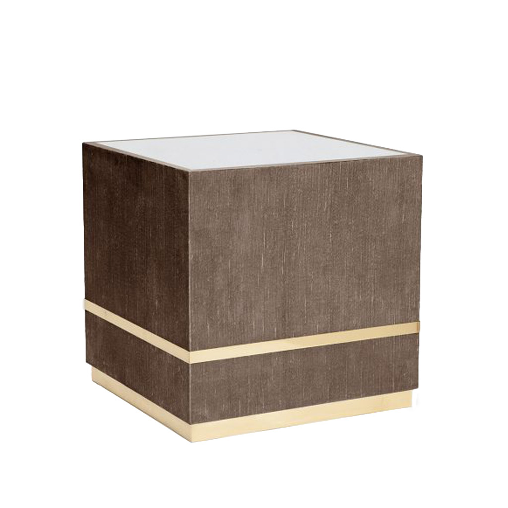 AIMEE SIDE TABLE - DARK MUSHROOM