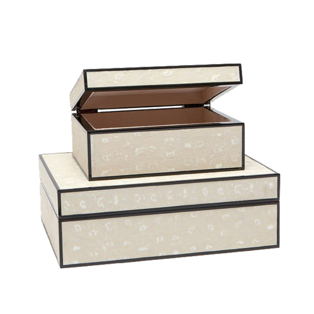 MARGO TURTLE FAUX BOX SET - CREAM